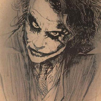 Batman The Joker Sketch DC Comics Poster 22x34