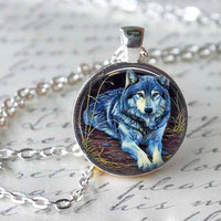 WOLF Pendant wolf necklace wolf jewelry Forest Wolf,Predator, Animal Pendant, Necklace,Jewelry