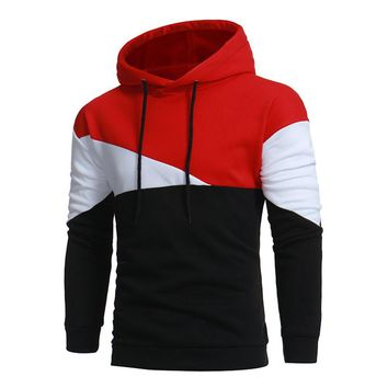Hoodie Simple Stitching Hoodies Men Fashion Tracksuit Male Sweatshirt  Hoody Mens Purpose Tour