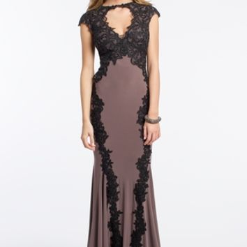 Lace Applique Cap Sleeve Dress