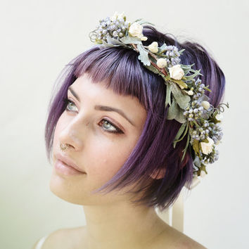Woodland Dream Flower Crown, Lavender, Woodland Wedding, Dryad, Fairy, Fae, Circlet, Flower Hair Wreath, Floral Crown, Bridal Flower Crown