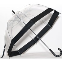 Clear Bubble Umbrella Color: Black Trim:Amazon:Clothing