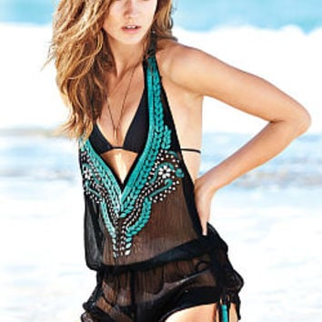 Embellished Cover-up Romper - Victoria's Secret