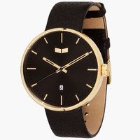 Vestal Roosevelt Watch Black/Gold One Size For Men 25505614901