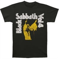 Black Sabbath Men's  Vol. 4 Yellow T-shirt Black