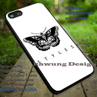 Butterfly tattoo,Harry Styles,One Direction,iphone6 6plus,niall,zayn malik case/cover for iPhone 4/4s/5/5c/6/6+/6s/6s+ Samsung Galaxy S4/S5/S6/Edge/Edge+ NOTE 3/4/5 #music #1d ii