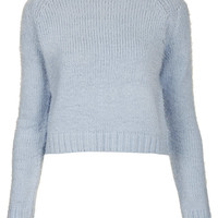 Knitted Fluffy Crop Jumper - Back To School - New In - Topshop USA