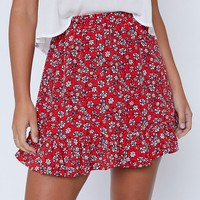 Coco Skirt Red Floral