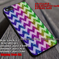 Rainbow Glitter Under Chevron iPhone 6s 6 6s+ 6plus Cases Samsung Galaxy s5 s6 Edge+ NOTE 5 4 3 #art ii