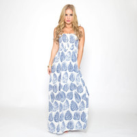 Blue Palms Maxi Dress