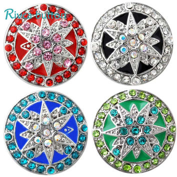 D02864 High Quality Glass items styles 18mm Metal Snap Button Charm Rhinestone Styles rivca Snap Button Jewelry