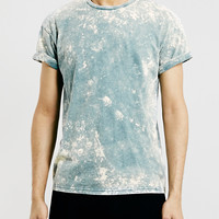GREEN ACID WASH ROLLER FIT T-SHIRT - Topman