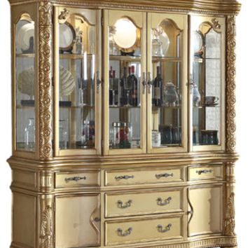 Bennito French Provincial Gold Hutch/Buffet