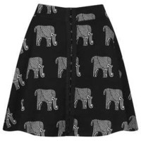Elephant Print Skater Skirt - Skirts - Clothing - Topshop USA
