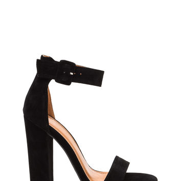 Perfection Chunky Faux Suede Heels