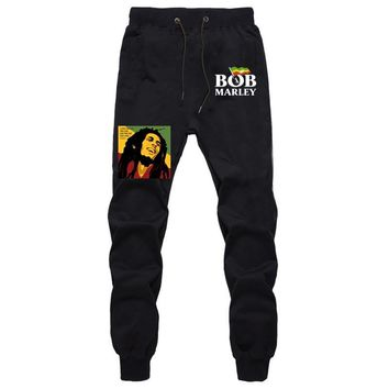 Bob Marley Rapper Mens Pants Joggers Bodybuilding Sweatpants Men Fitness Gyms Pants Hip Hop Trousers Autumn Winter Harem Pants