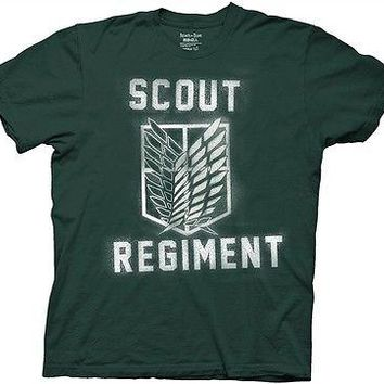 Attack on Titan Scout Regiment Manga Anime Cartoon Cotton Adult T Shirt