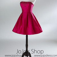 Red Short Cocktail Prom Formal Bridesmaid Dress HB2032B