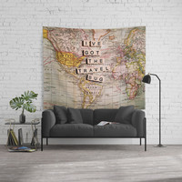 I've got the travel bug Wall Tapestry by Sylvia Cook Photography