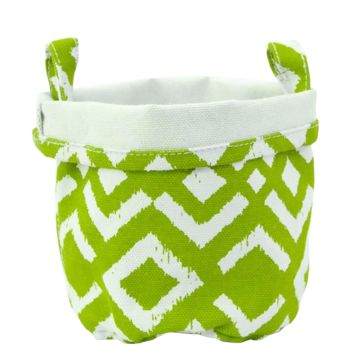 Ikat Recycled Canvas Bucket (Chartreuse)