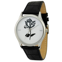 Black and White Flower Watch