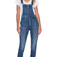 7 For All Mankind Fashion Overall in Medium Broken Twill