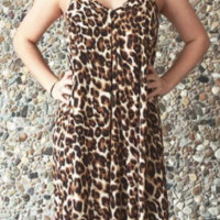 Women's Leopard Maxi Dress