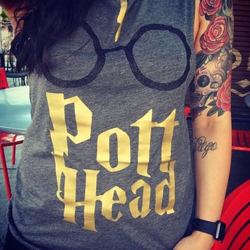 Harry Potter - Pott Head - Muscle Tank - Ruffles with Love - Womens Fitness Clothing - Workout Tank