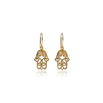 Hamsa Earrings • Gold Vermeil