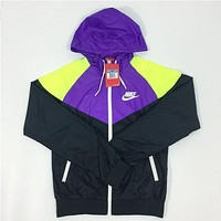 """NIKE"" Fashion Hooded Sweatshirt Zipper Cardigan Coat Jacket Windbreaker"