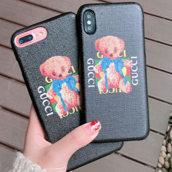 Gucci printed bear iphone case for iphone 6/7/8/6plus/7plus/8plus/X