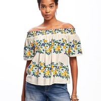Smocked Off-Shoulder Swing Top for Women | Old Navy