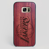 Los Angeles Lakers Galaxy S7 Edge Case - All Wood Everything