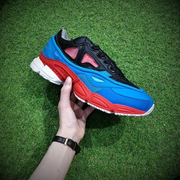 Raf Simons x Adidas Consortium Ozweego 2 Black Red Lucora 2018 Women Men Casual Trending Running Sneakers