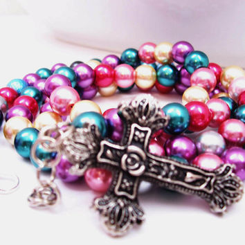 Christian Cross Jewelry - Christian Bracelet - Metal Jewelry