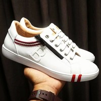 BALLY 2018 spring and summer new trend lace-up shoes fashion sports shoes men's shoes White