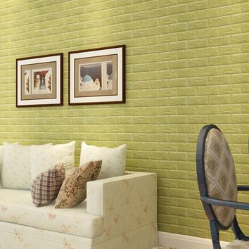 PE Foam 3D DIY Wall Stickers Wall Decor embossed brick wallpaper wall papers home decor 3d living room for office decorative