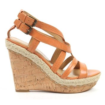 Nine West Womens Espadrille Wedge Sandal NWNAMIAH ORANGE