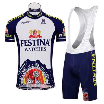 Hot pro team Short sleeve Cycling jersey suit Maillot Ciclismo Classic retro racing Sport Bike Cycling Clothing Quick dry