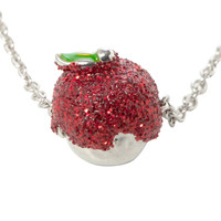 Disney Snow White Red Glitter Apple Necklace
