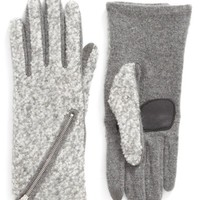 Echo 'Touch - Zip Bouclé' Tech Gloves | Nordstrom