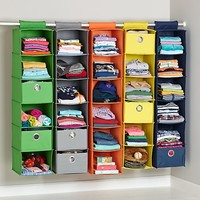Kids' Storage Containers: Kids Colorful Canvas Hanging Closet Storage in Closet & Hampers | The Land of Nod