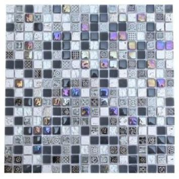 Splashback Tile Aztec Art City Slicker Grey 12 in. x 12 in. x 8 mm Glass Mosaic Floor and Wall Tile AZTEC ART CITY SLICKER GREY GLASS TILES at The Home Depot - Mobile