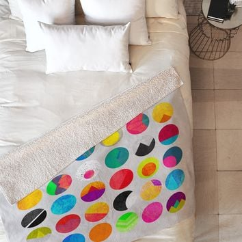 Elisabeth Fredriksson Dots 1 Fleece Throw Blanket
