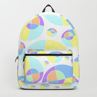 Bubble yellow & blue 08 Backpack by Zia