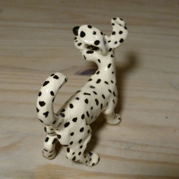 Dalmatian dog ,White and black dog ,pets , dog sculpture ,white dog with black dots ,faithful companion