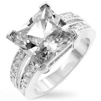 White Princess Engagement Ring, size : 09