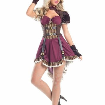 Be Wicked Costume 3 Piece STEAMPUNK MAD HATTER