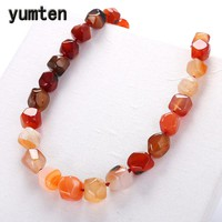 Yumten Natural Agate Irregular Original Stone Vintage Women Necklace Fashion Crystal Popular Classic Exquisite Amber Jewelry