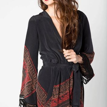 Stone Cold Fox Helena Robe in Violante Print